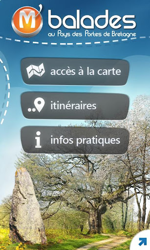 Accueil m'balades android google play iPhone Bretagne