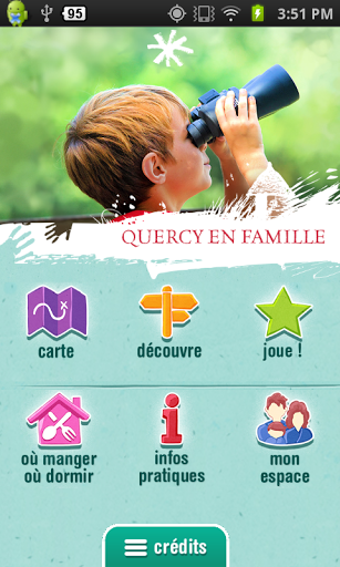 Menu appli Quercy en famille google play iphone